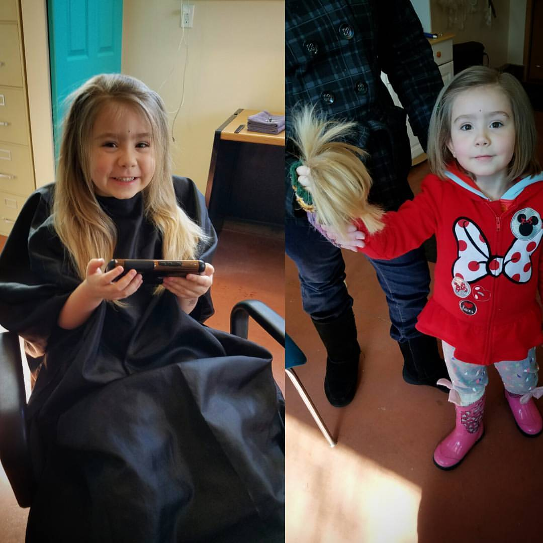 girl kids hair cut traverse city michigan pinups and needles