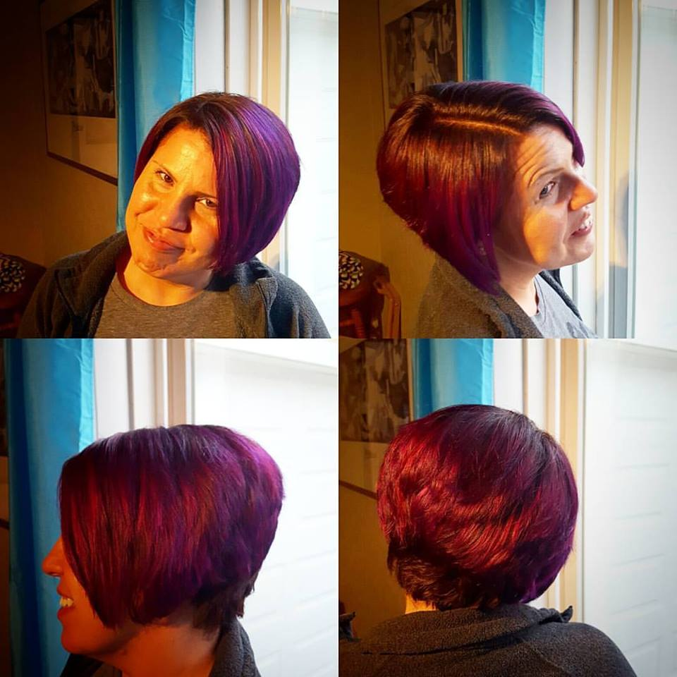 amanda haircut hair color highlights traverse city michigan pinups and needles