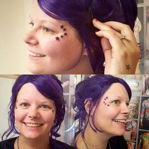 megan face tattoo stars